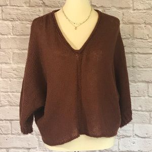 Wooden Ships Boxy cropped sweater size S/M